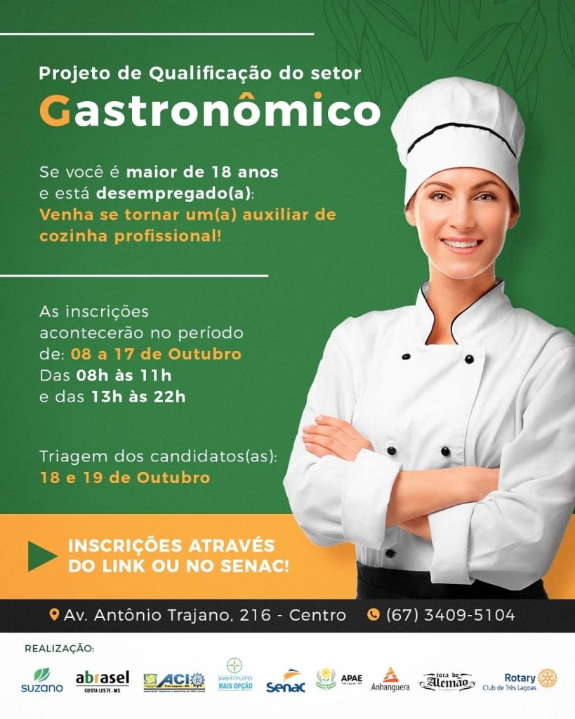 curso gastronômico
